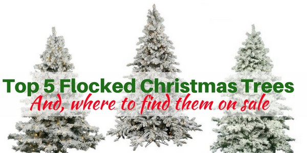 the prettiest and best flocked christmas trees