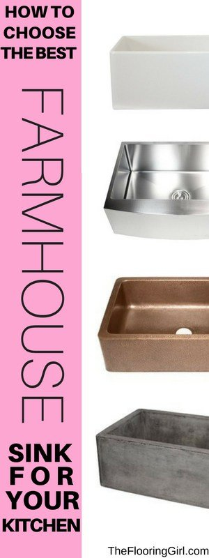 Choosing the best farmhouse sink for your kitchen | Most popular farmhouse style apron sinks