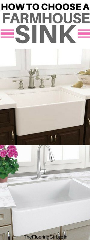 How to choose a farmhouse sink for your kitchen | Top farmhouse style sinks