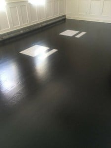 true black stain is opaque to camouflage red in Brazilian cherry hardwood