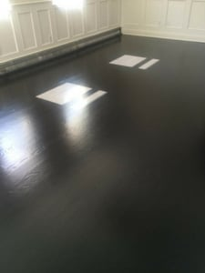 how to refinish floors to make them black