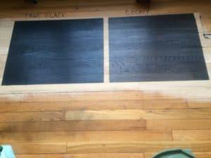 True Black Vs Ebony Stain Test 2017 Flooring Trends