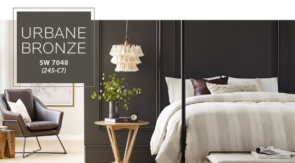 2021 Home decor trends - SW urbane bronze color of the year (SW 7048)