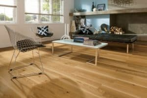 white oak floors with water borne poly