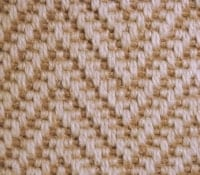 Herringbone wool carpet looks like sisal in westchester