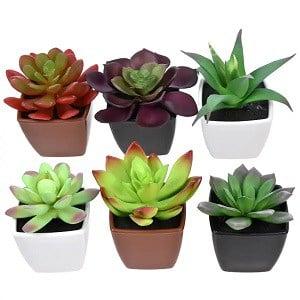 dollar store home decor artificial succulent plants