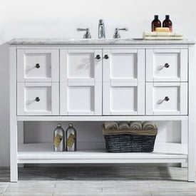 bathroom vanity trends for 2018 and 2019 - open shelving