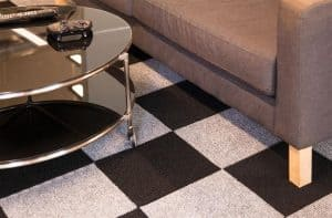 DIY carpet tile - 2 color checkerboard