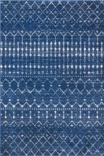 best places to buy area rugs - navy moroccan trellis