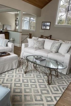 warm gray or greige in living room