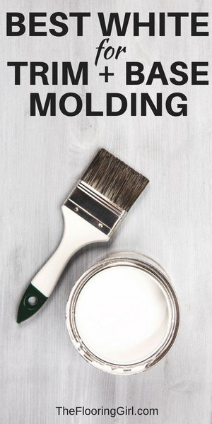 best shade of white for painting trim and base molding