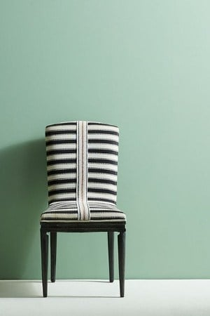 geometric black and white accent chair MCM style
