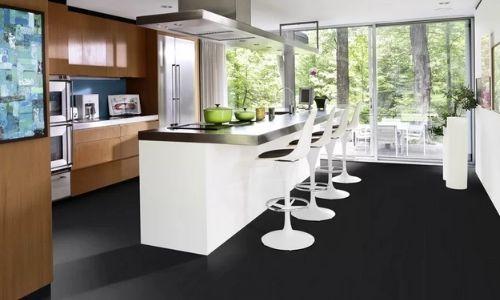 black hardwood floorsf from