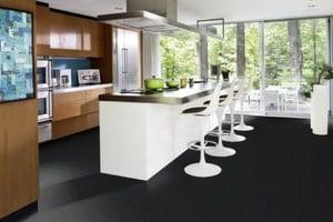 the blackest hardwood flooring - aniline dye