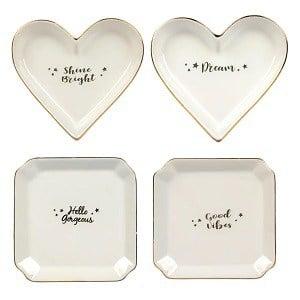dollar store ceramic trinket tray