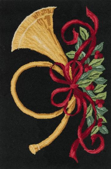 christmas rug runner black background