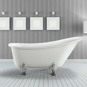 farmhouse style decorating - clawfoot bathtub for cottage decor