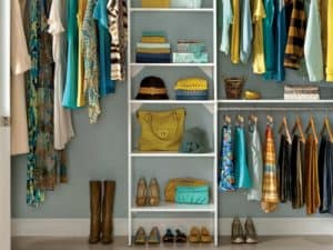 closet organization system - home decor projects you can do over the weekend