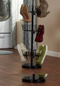 revolving shoe organizer for closet