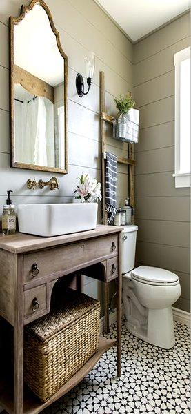 country cottage bathroom and modern farmhouse style bathrooms