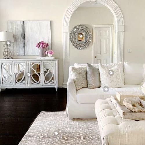 super dark wood floors with area rug