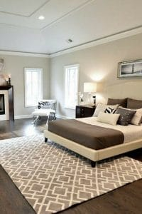 Decorating rooms with dark floors and gray paint