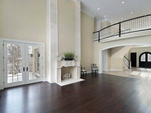 dark wooden floors living room