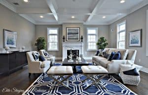 Navy area rug for living room