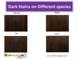 Dark Stains On Diffe Wood Species