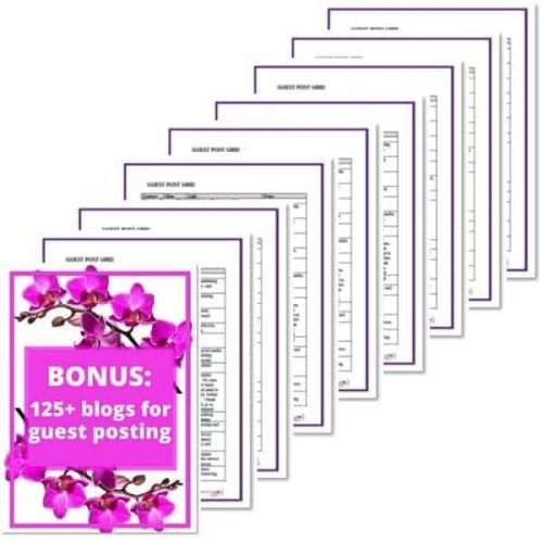 Blogs that accept guest posts - Bonus for Easy Backlinks for SEO