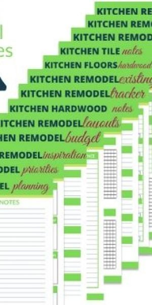 Kitchen makeover organizer and printables
