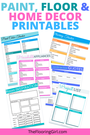 paint, floor and home decor printable tracker