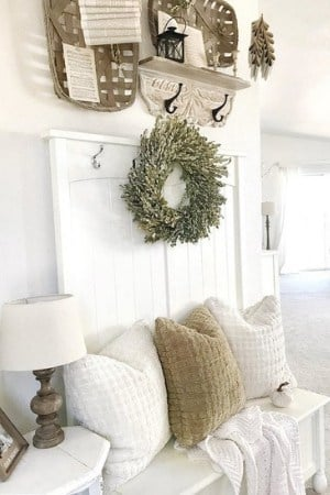 fall and christmas farmhouse decor