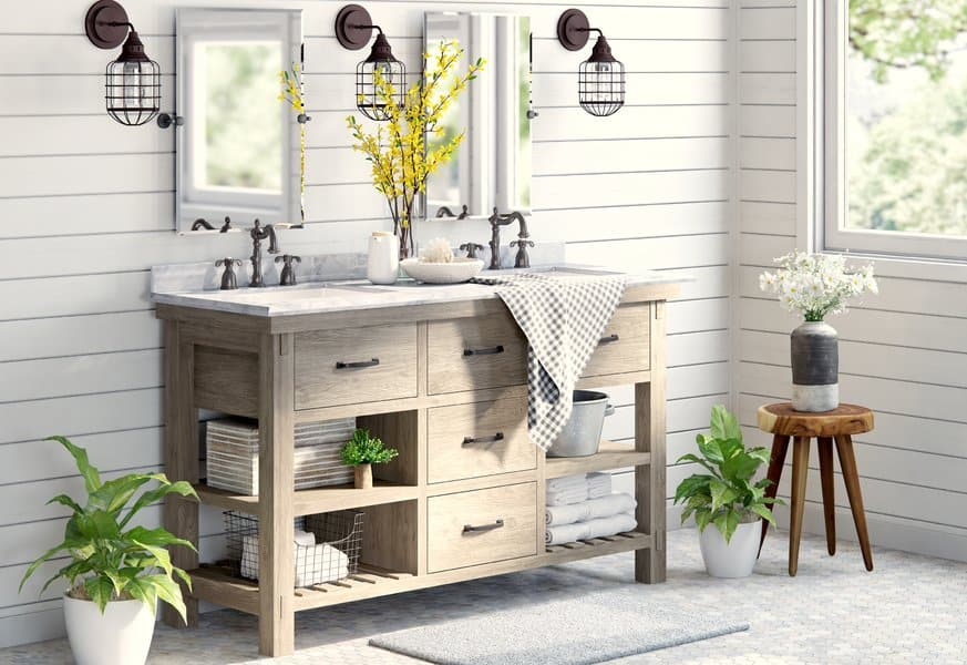 21 Modern Farmhouse Style Bathrooms for a Rustic Shabby ...