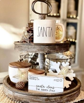 farmhouse christmas sign - santa claus letter