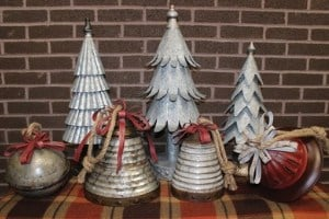 shabby chic galvanized christmas trees