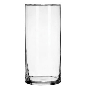 Glass cylinder vase from the Dollar Store
