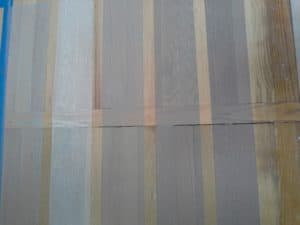 gray stain testing on red oak and white oak