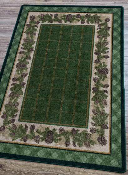 christmas rug in green