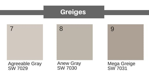 neutral paints in greige