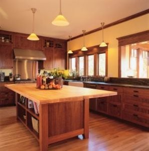 Hardwood floors in kitchen Westchester county in style