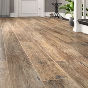 plank tile floor - brown