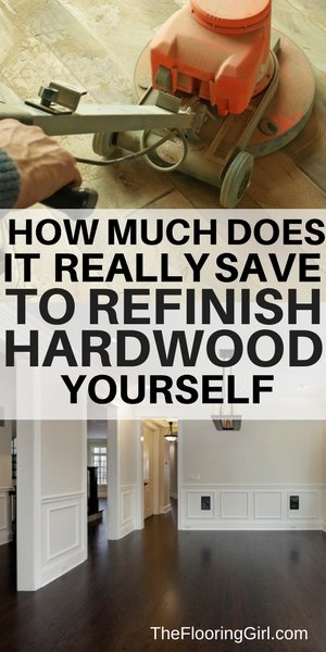 diy vs professional for sanding hardwood - how much do you really save