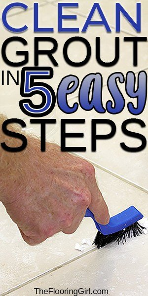 how to clean grout in the shower and kitchen floors