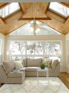 painting pine paneling white