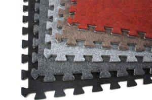 interlocking carpet tiles
