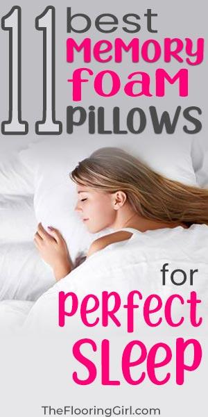 11 best memory foam pillows for a perfect sleep