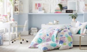 blue Paint Colors Go Best with Gray Floors