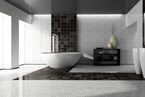 How to clean grout -upscale bathroom
