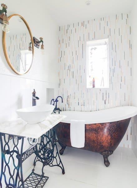 modern farmhouse style bathrooms